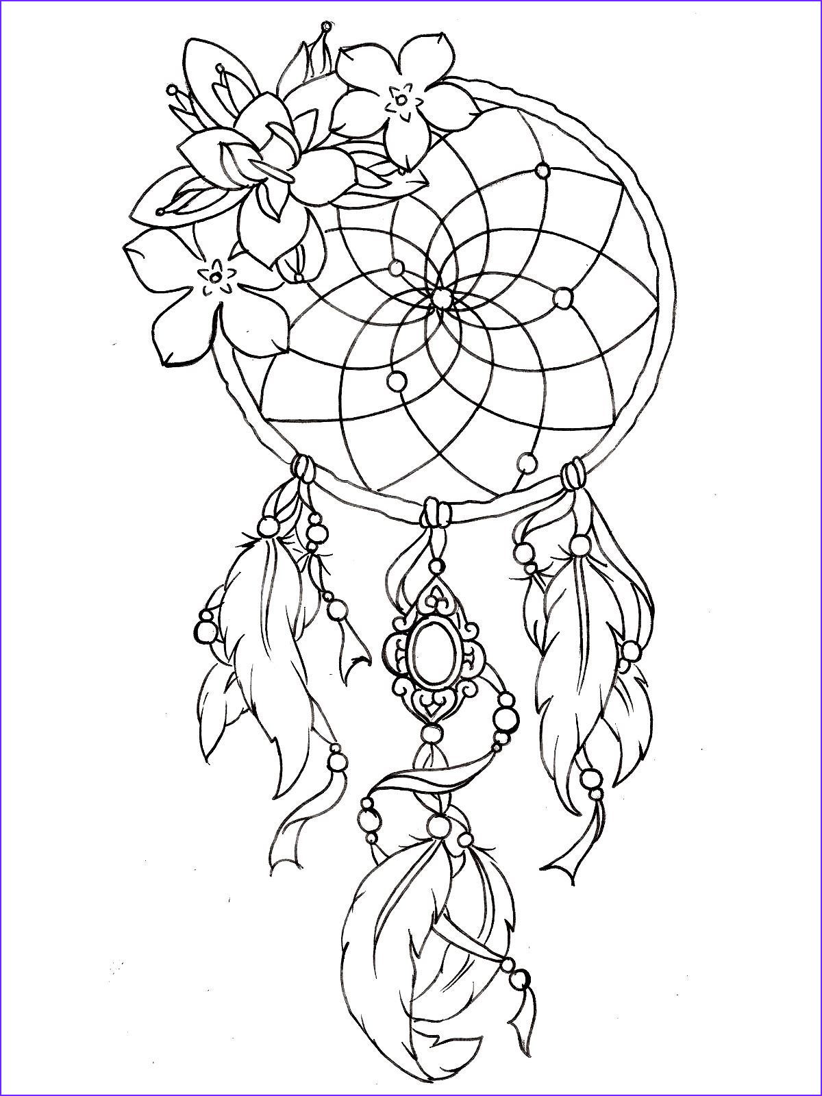 Tattoo Coloring Pages Inspirational Photos Free Coloring Page Coloring Dreamcatcher Tattoo Designs