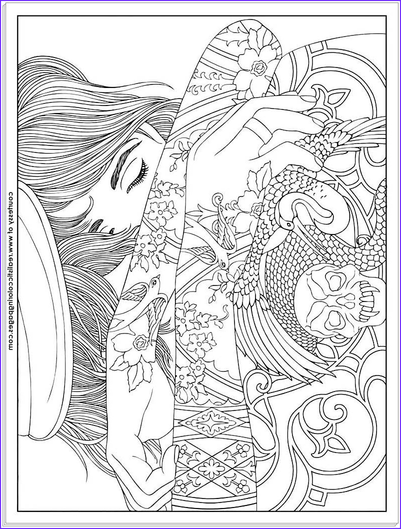 Tattoo Coloring Pages Unique Image 8 Tattoo Design Adults Coloring Pages