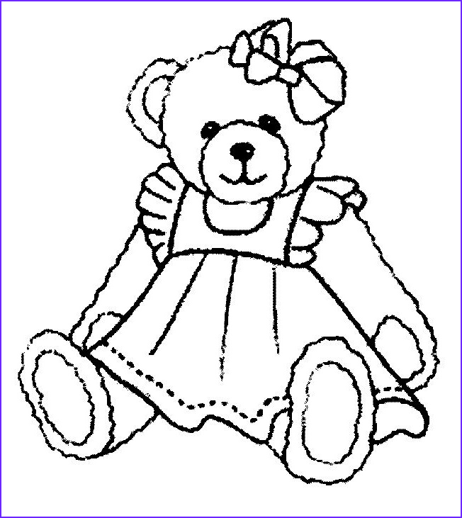 Teddy Bear Coloring Pages Beautiful Image Cute Teddy Bear Coloring Pages Coloring Home