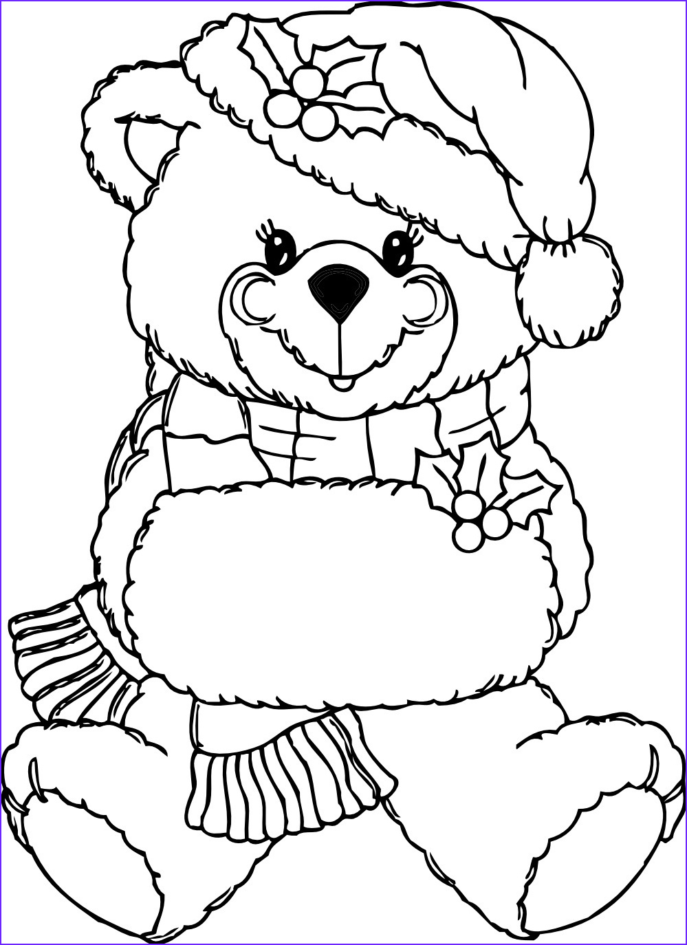 Teddy Bear Coloring Pages Cool Images Free Printable Teddy Bear Coloring Pages for Kids