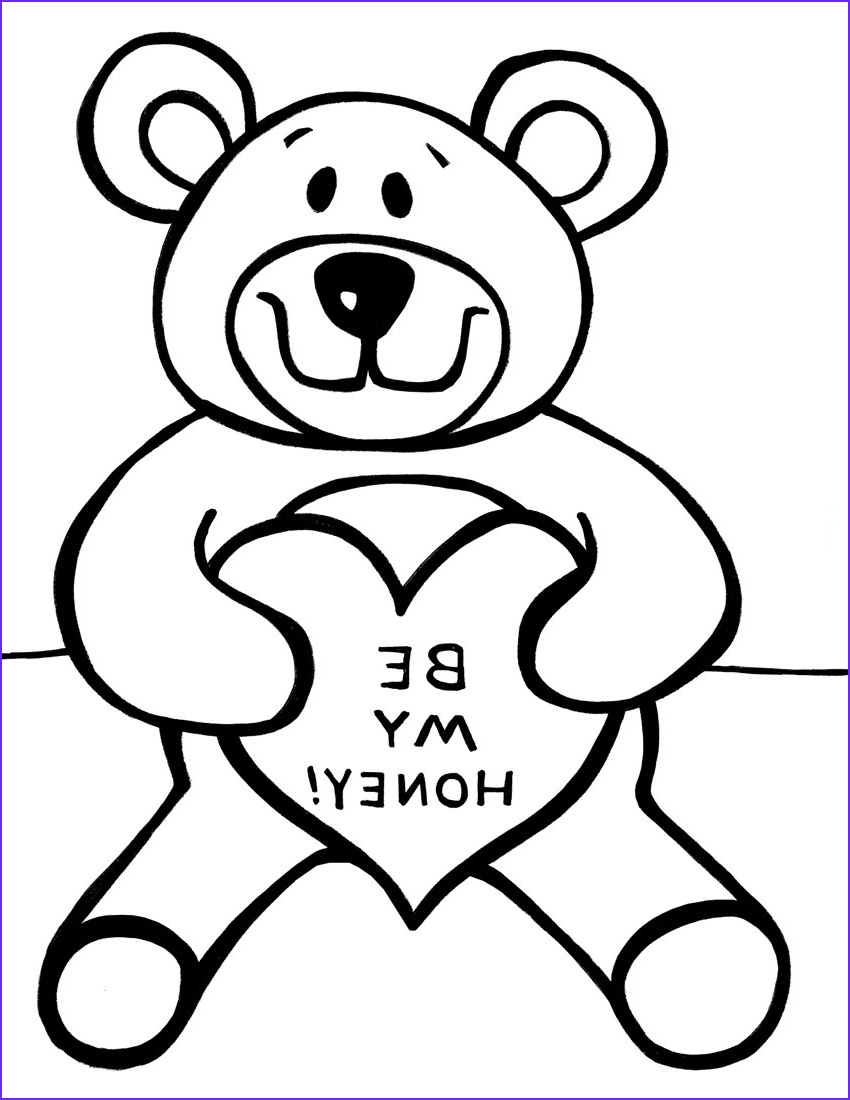Teddy Bear Coloring Pages Inspirational Image Free Printable Teddy Bear Coloring Pages for Kids