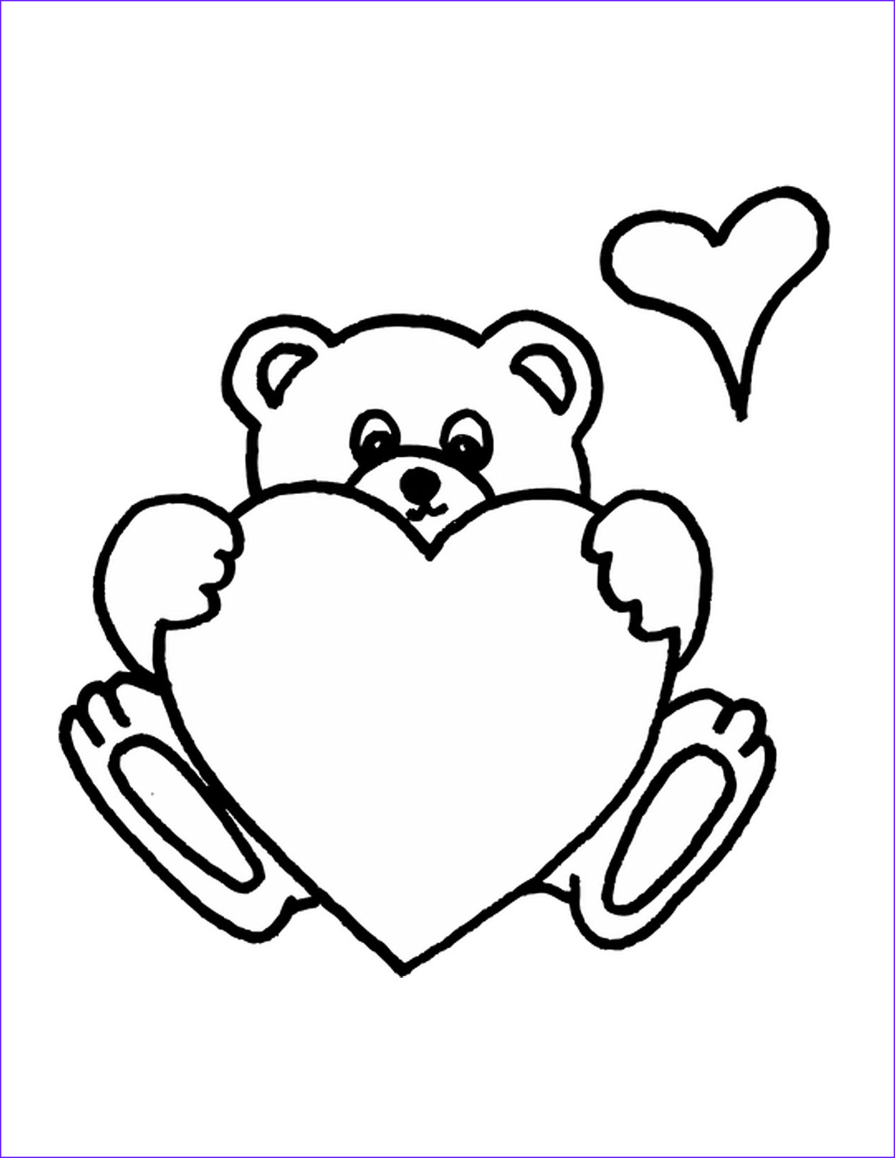 Teddy Bear Coloring Pages Luxury Gallery Cute Teddy Bear Coloring Pages