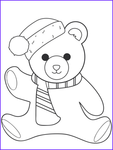 Teddy Bear Coloring Pages Luxury Image Christmas Teddy Bear Coloring Page