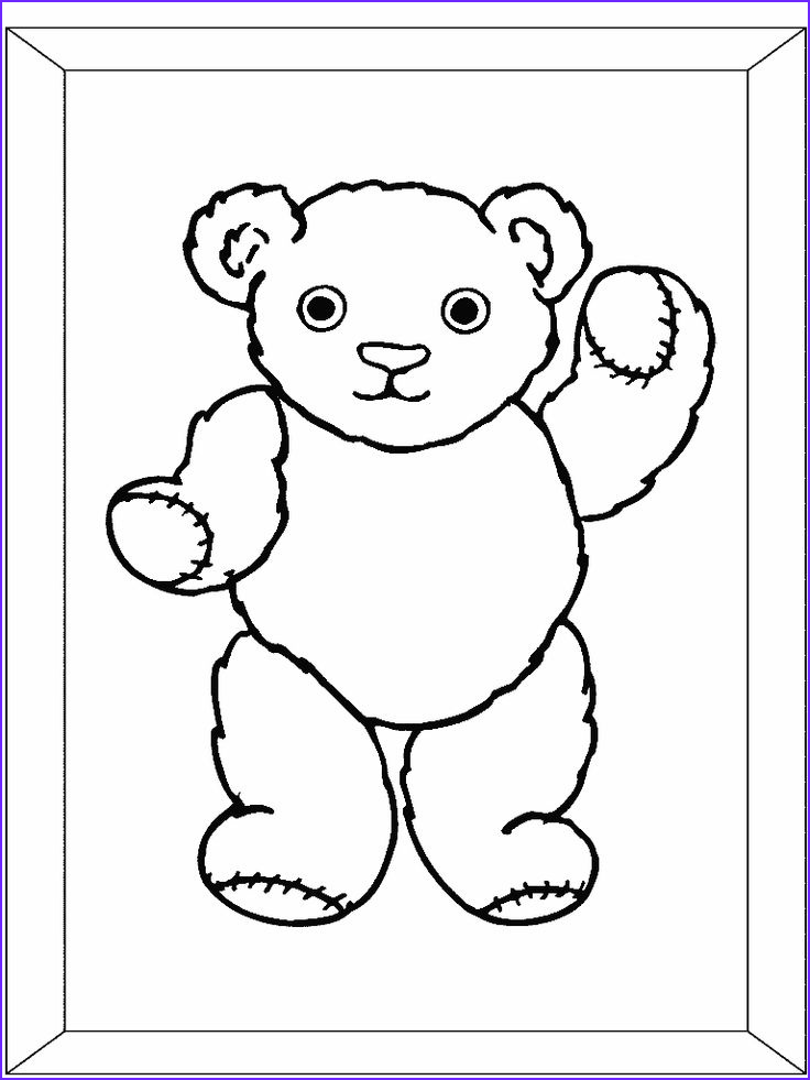 Teddy Bear Coloring Pages Unique Image 1000 Images About Teddy Bears Picnic On Pinterest