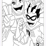 Teen Titans Coloring Pages Beautiful Gallery Learn To Coloring April 2012