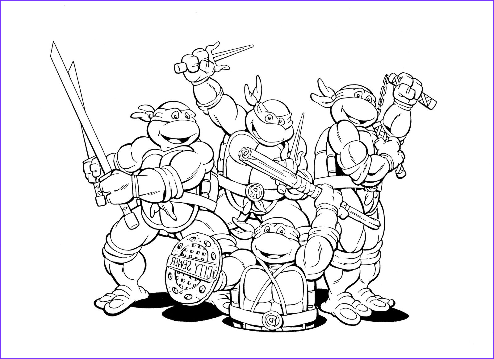 mutant ninja turtles coloring pages