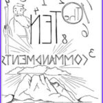 Ten Commandments Coloring Sheet Luxury Collection Bible Coloring Pages For Kids [free Printables]