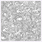 Thanksgiving Coloring Pages For Adults Awesome Image Cartoon Vector Hand Drawn Doodles Thanksgiving Autumn