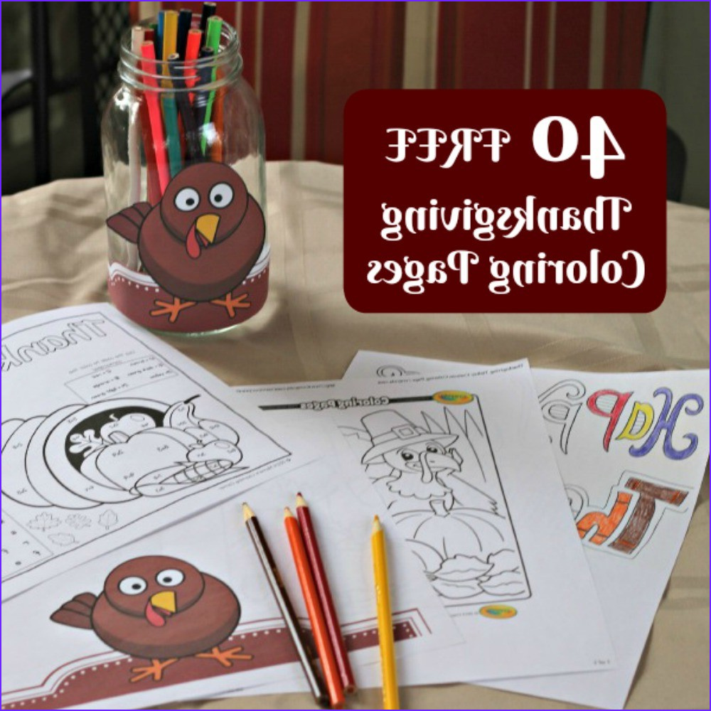 40 free thanksgiving coloring pages for kids and adults