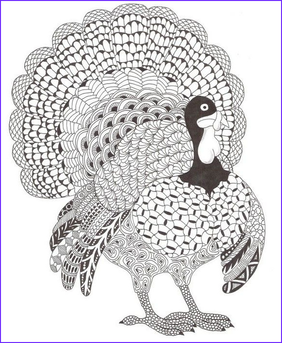 Thanksgiving Coloring Pages for Adults Unique Images Adult Coloring Page Thanksgiving Turkey