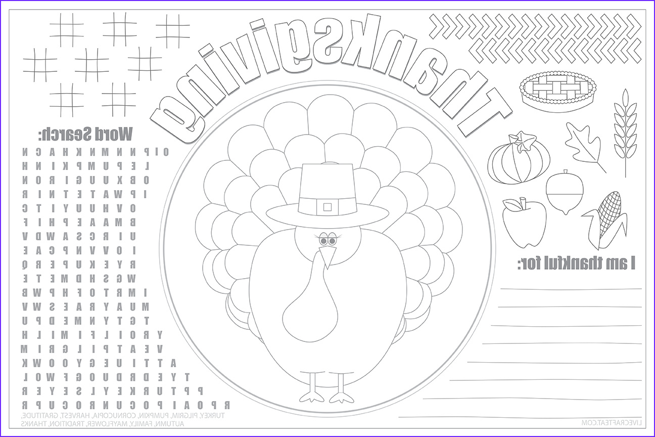 Thanksgiving Coloring Placemats Best Of Image Printable Thanksgiving Placemats for Kids Free