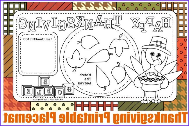 Thanksgiving Coloring Placemats Elegant Collection 12 Free Printable Thanksgiving Kids Activity Placemats and