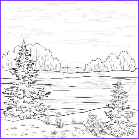 The Art Of Nature Coloring Book Beautiful Stock Nature Outlines to Print
