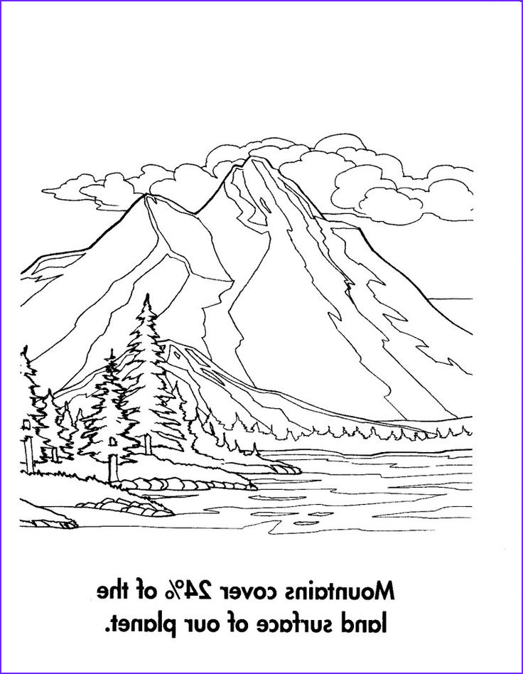 The Art Of Nature Coloring Book Unique Stock Mountain Scenery Coloring Pages