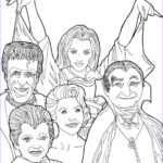 The Coloring Book Inspirational Images Digital Download Munsters Coloring Book Page Halloween