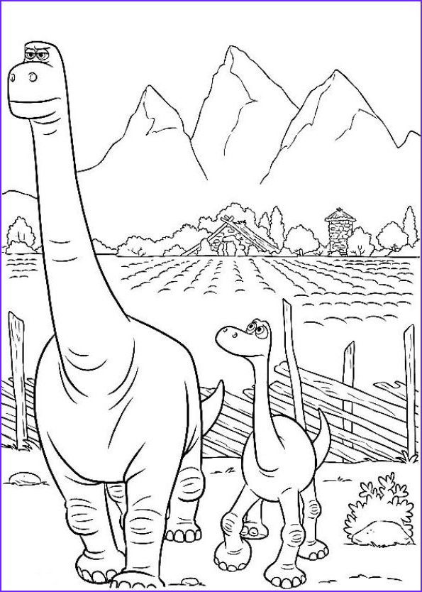 The Good Dinosaur Coloring Pages Best Of Stock Kids N Fun