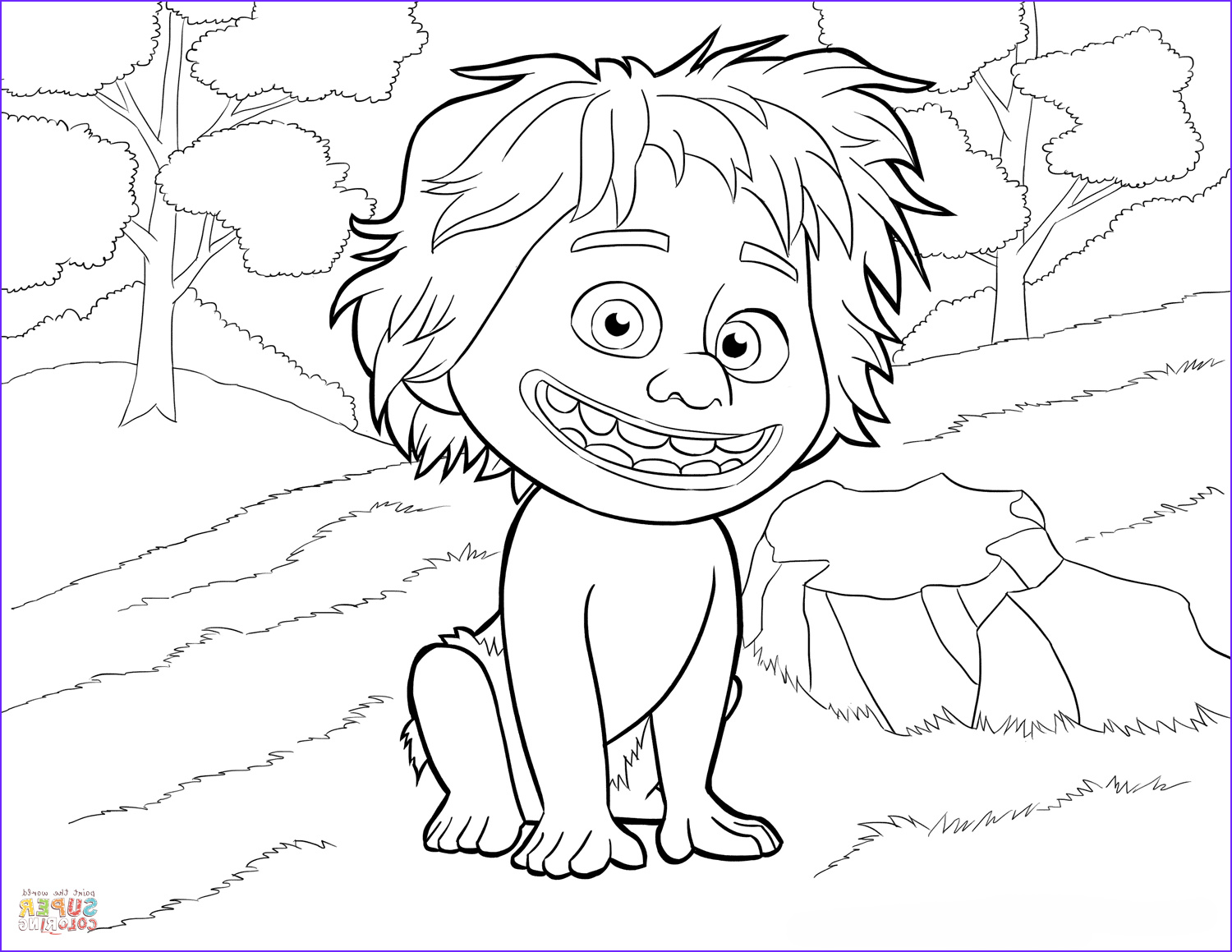 The Good Dinosaur Coloring Pages Cool Image Spot From the Good Dinosaur Coloring Page