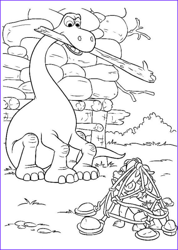 The Good Dinosaur Coloring Pages Luxury Gallery Kids N Fun