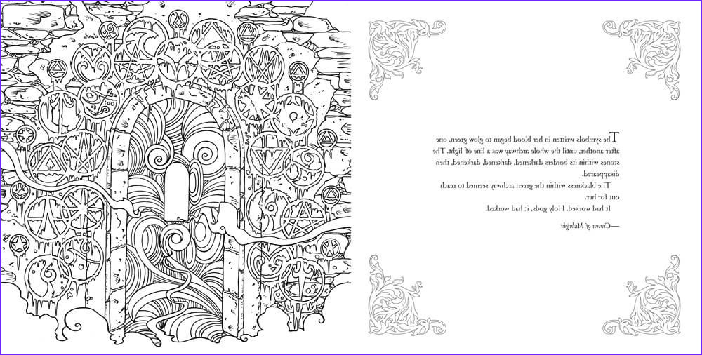 throne of glass coloring book pages