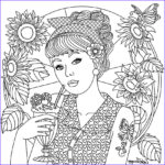 Therapeutic Coloring Pages Best Of Images Girl On Color therapy App