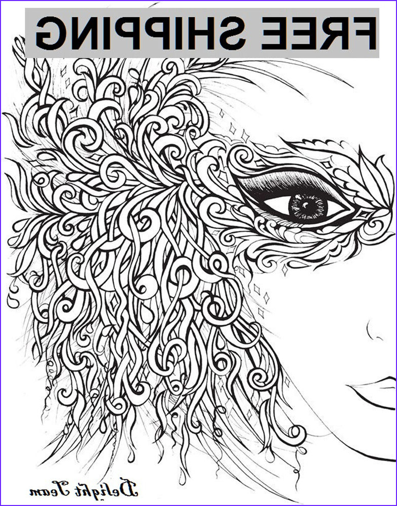 Therapy Coloring Books for Adults Inspirational Photos Adult Coloring Books Beautiful Faces to Color Stress