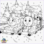Thomas Coloring Book Best Of Gallery Printable Christmas Colouring Pages For Kids Thomas Winter
