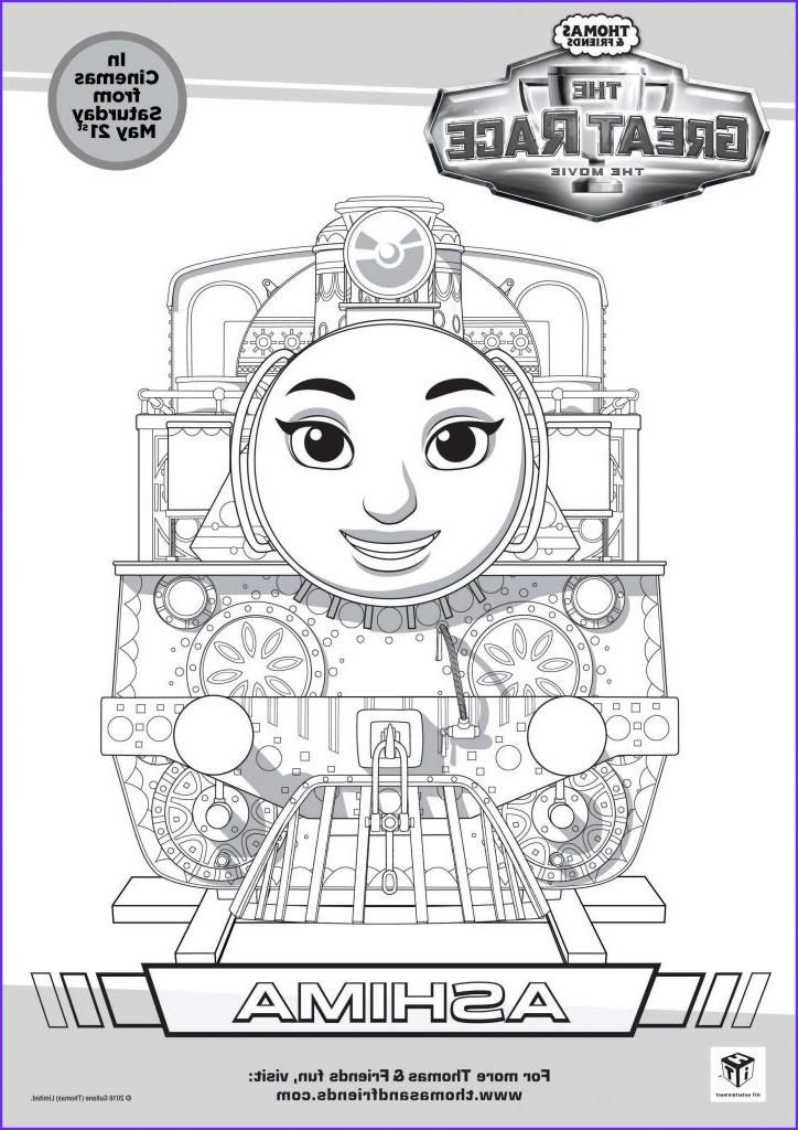 thomas friends great race colouring pages