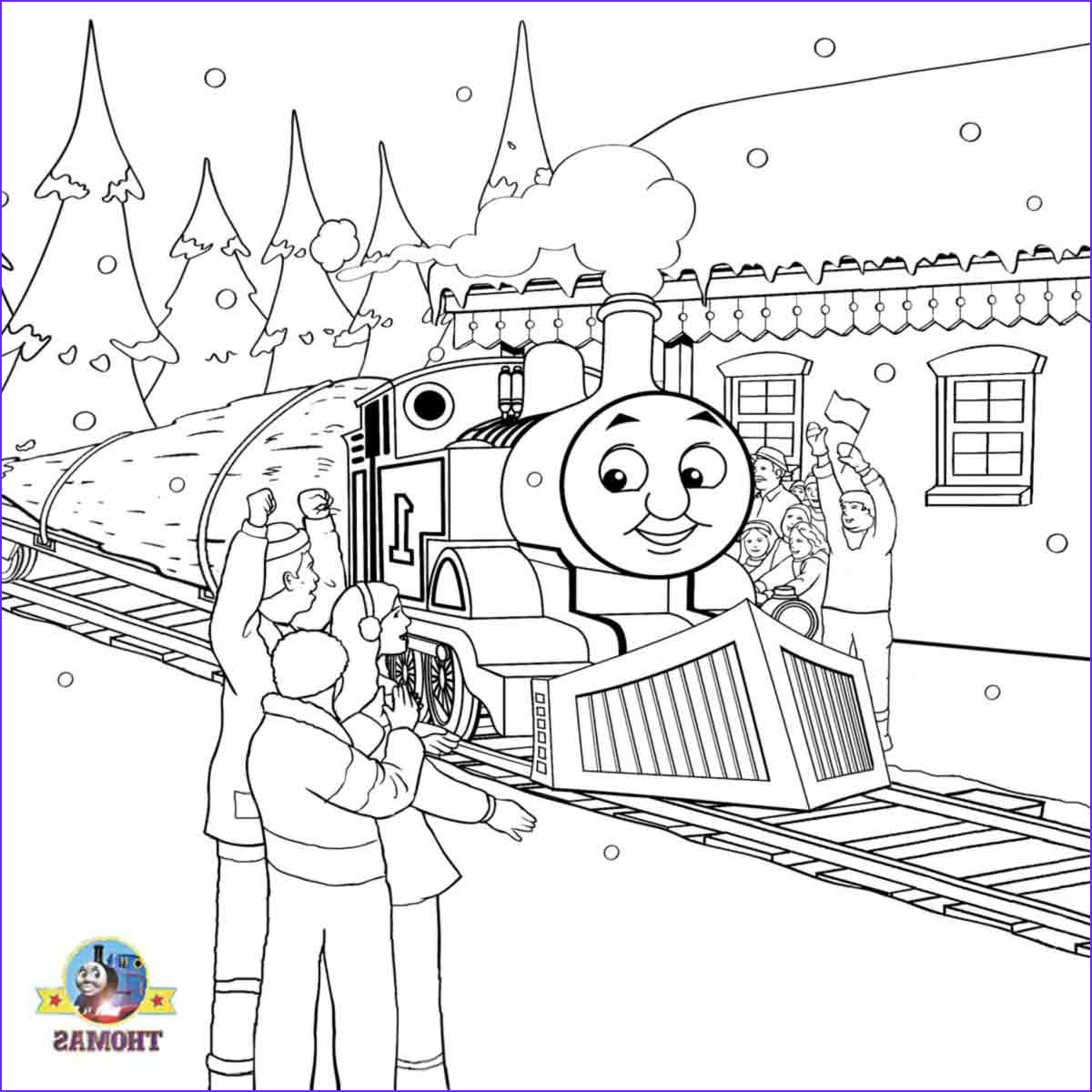 Thomas Coloring Pages Beautiful Collection December 2011