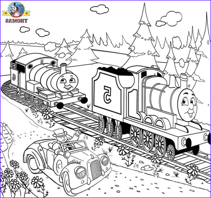 Thomas the Train Coloring Cool Photos Free Printable Railway Thomas Scenery Drawing for