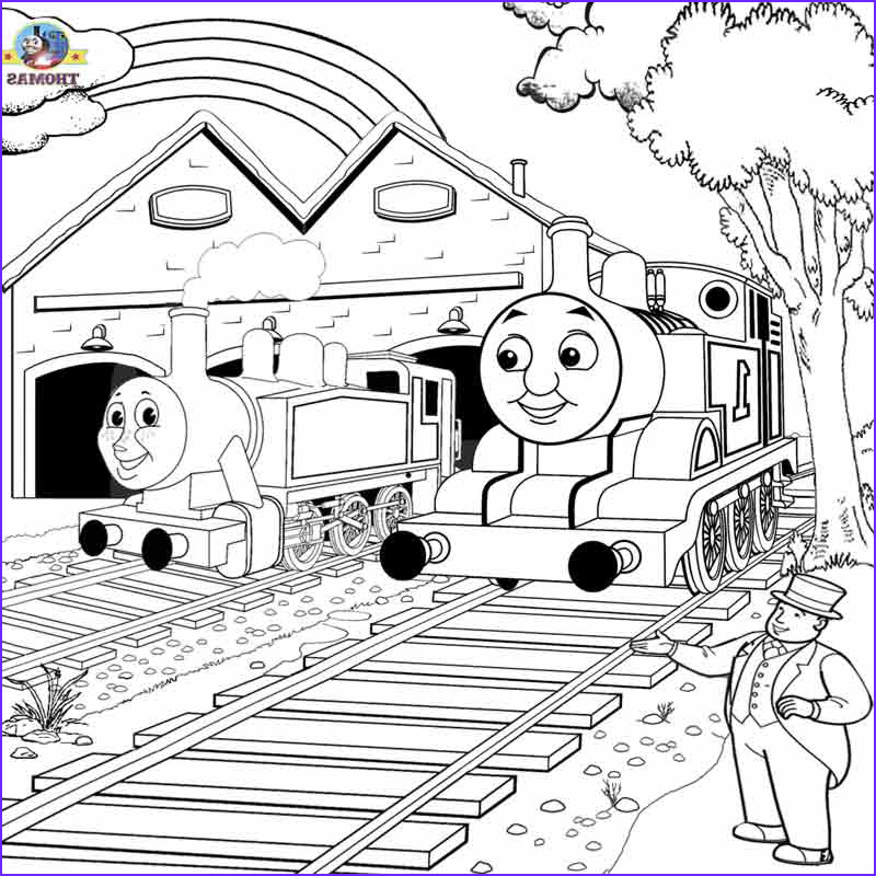 Thomas the Train Coloring Elegant Photography Free Printable Railway Thomas Scenery Drawing for