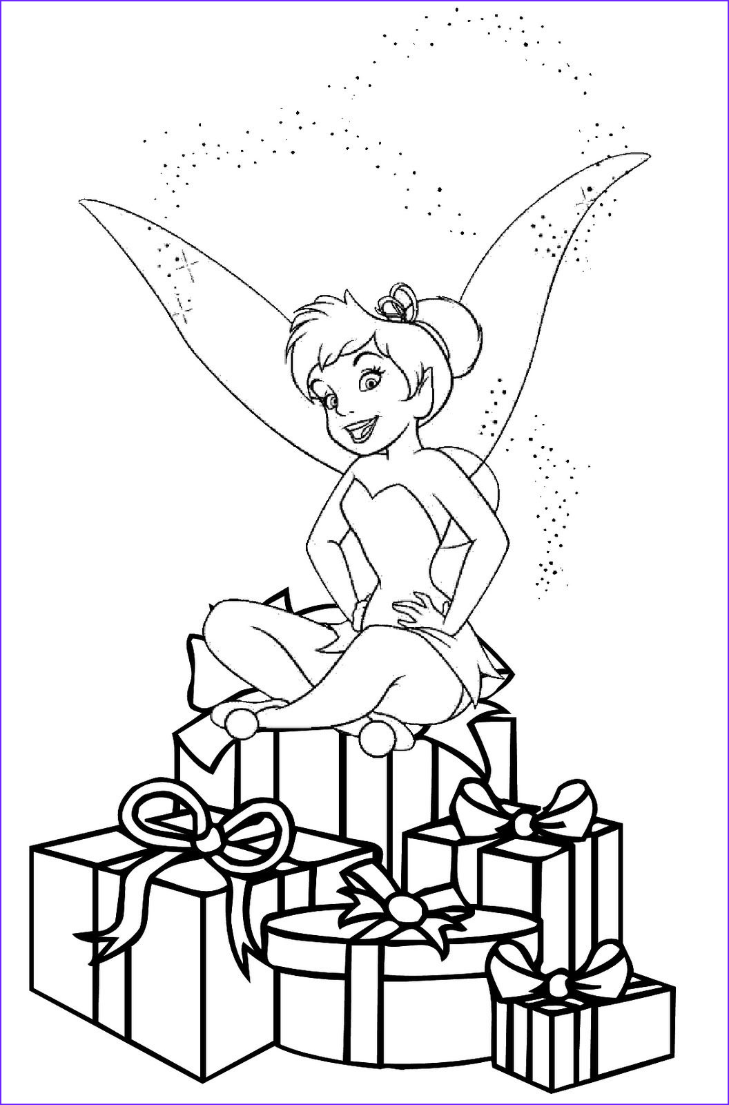 Tinkerbell Coloring Book Unique Photos Christmas Coloring Pages