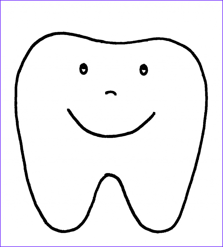 small teeth coloring page sketch templates