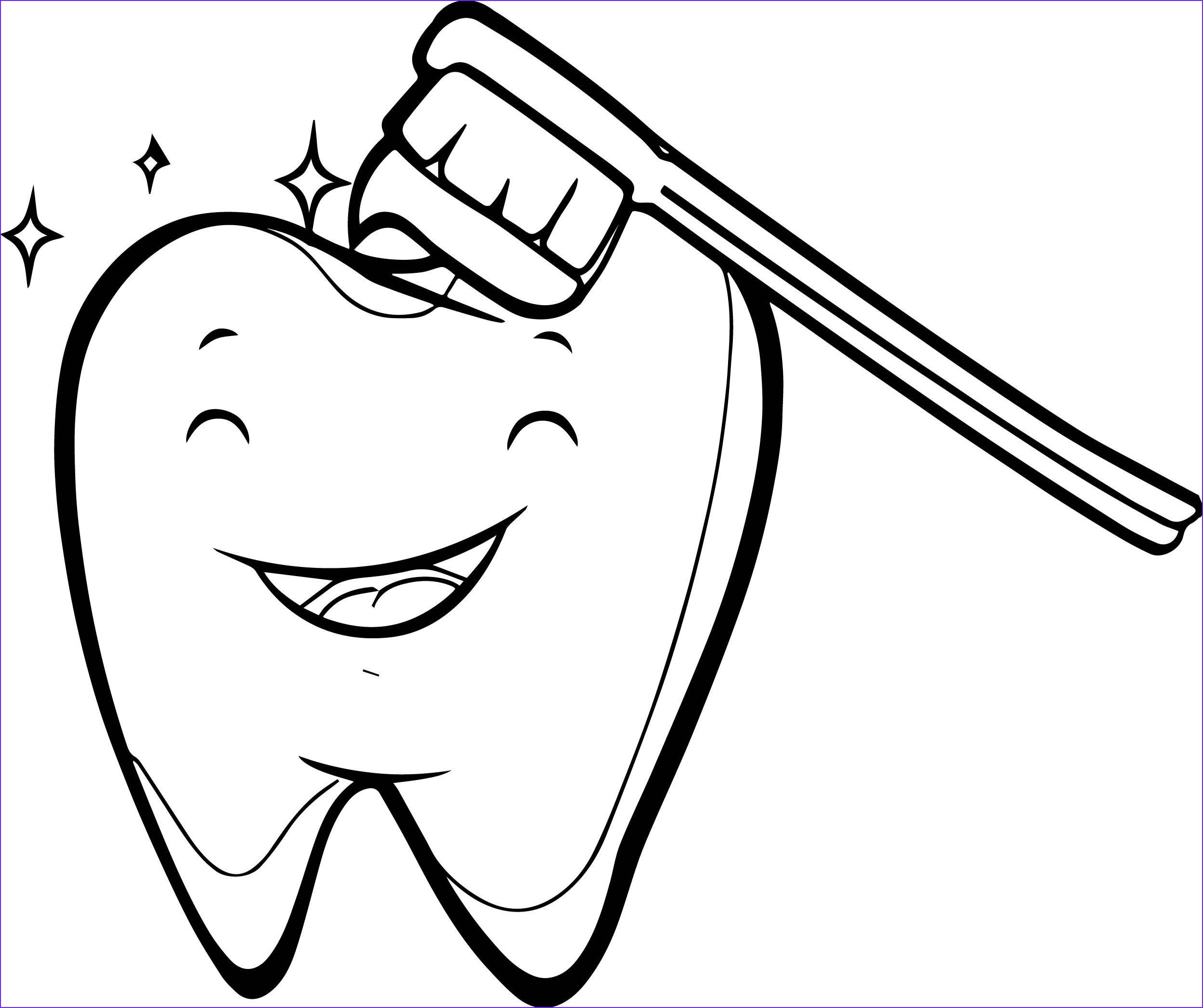 Tooth Coloring Cool Collection 14 Teeth Coloring Pages Preschool Preschool Dental