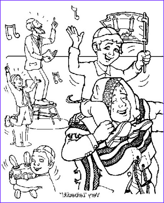 jewish coloring pages for kids simchat torah