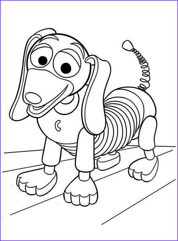 meet slinky dog in toy story coloring page