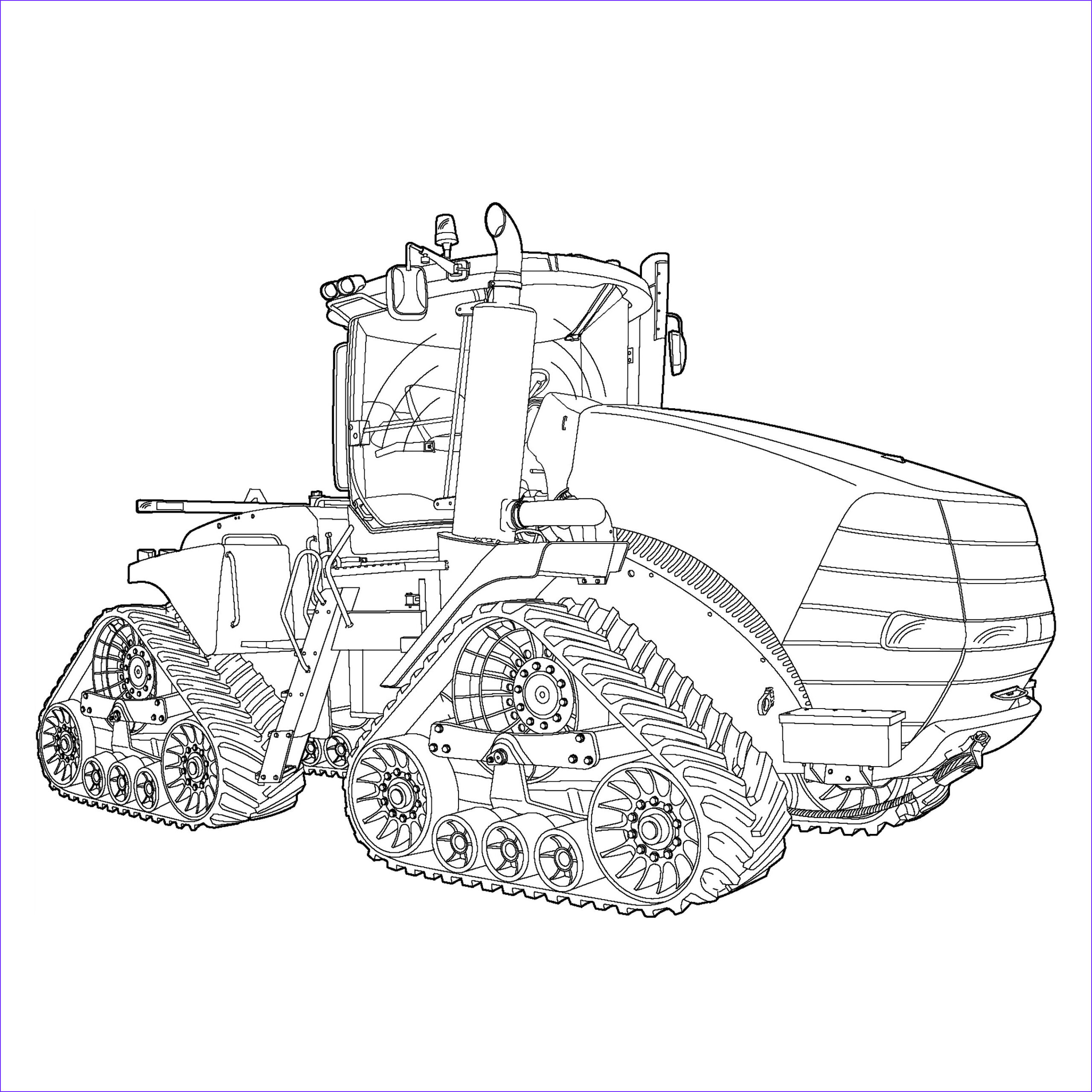 art tractor coloring book