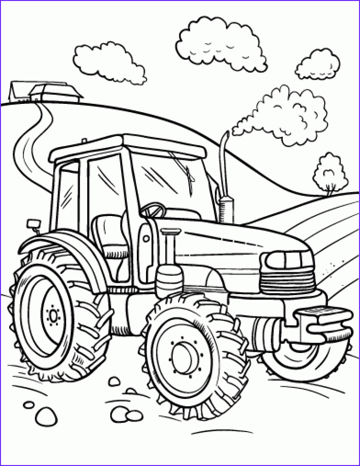 Tractor Coloring Book Beautiful Collection 20 Free Printable Tractor Coloring Pages