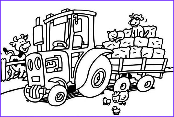 Tractor Coloring Book Cool Images Tractor Coloring Pages