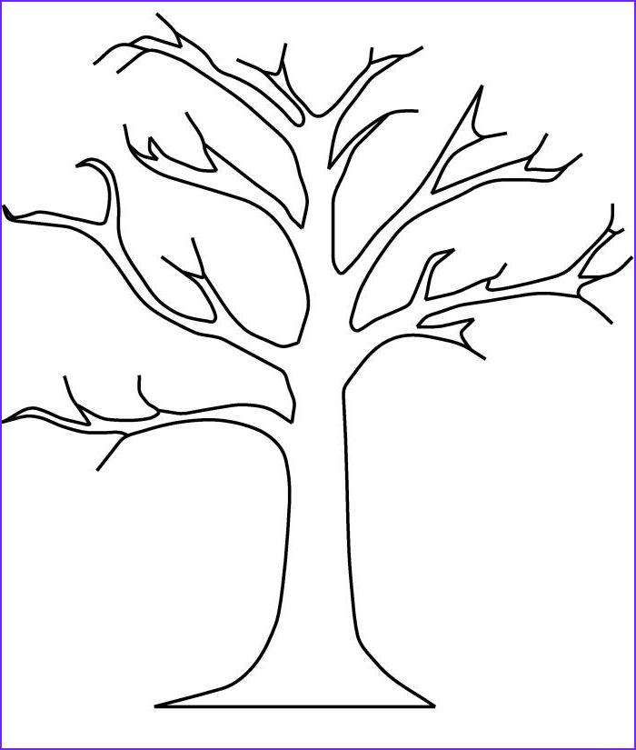 Tree Coloring Book Awesome Photos Bare Tree without Leaves Coloring Pages Tree Coloring