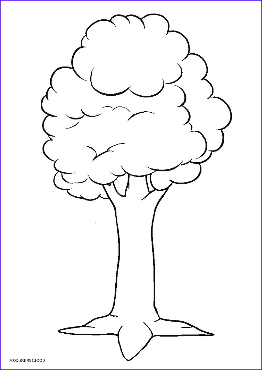 Tree Coloring Book Beautiful Gallery Free Printable Tree Coloring Pages for Kids