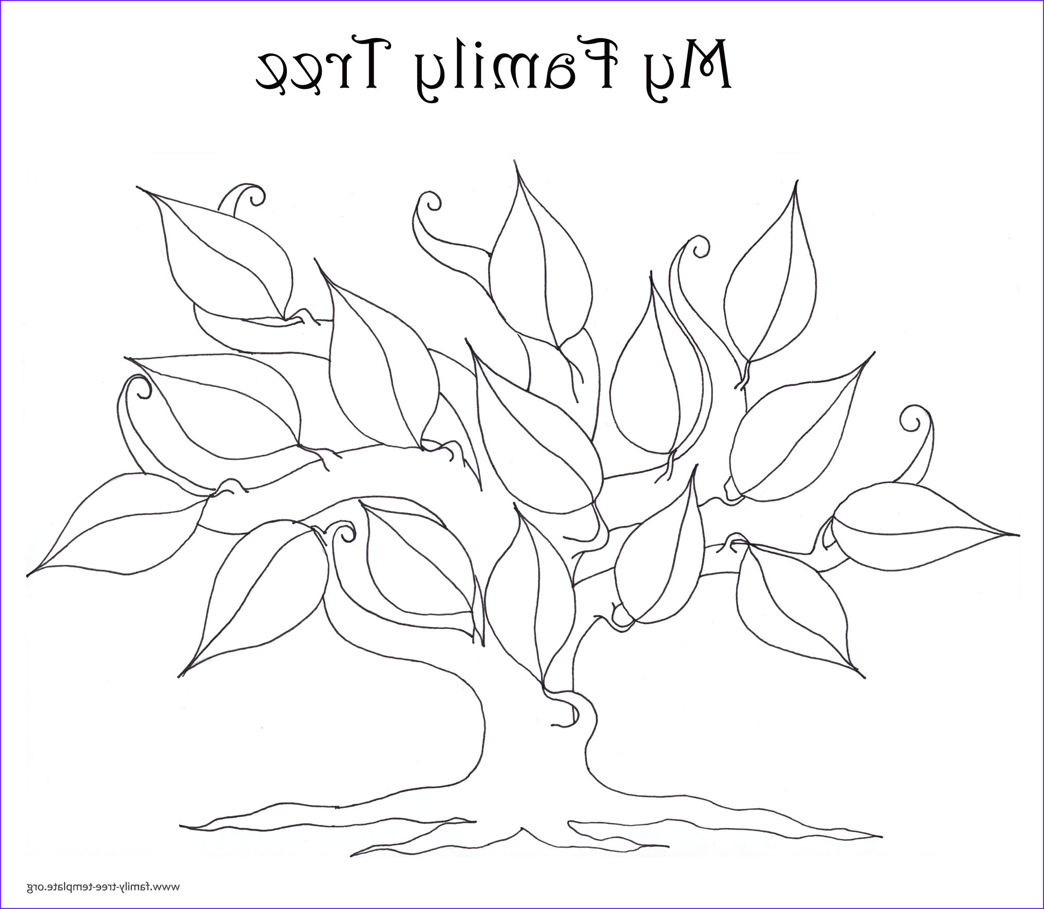 Tree Coloring Book Elegant Collection Family Tree Template Resources