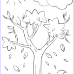 Tree Coloring Pages Awesome Collection Autumn Tree Coloring Page