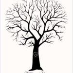 Tree Without Leaves Coloring Page Beautiful Collection Wedding Tree Drawing At Getdrawings