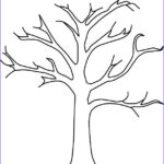 Tree Without Leaves Coloring Page Cool Images For Zaccheus Craft Tree Coloring Pages Without Leaves