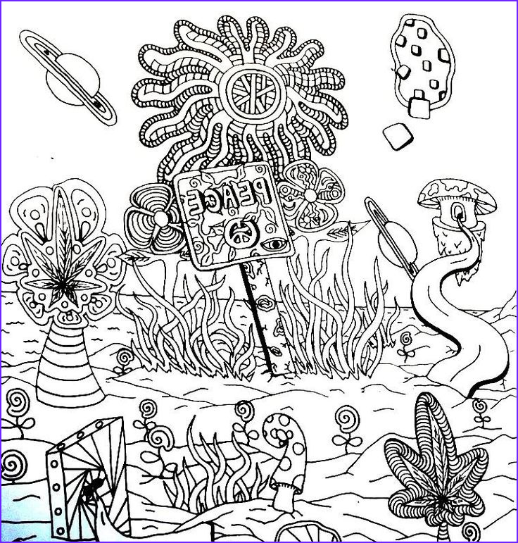 Trippy Coloring Book Beautiful Gallery Trippy Coloring Pages Printable