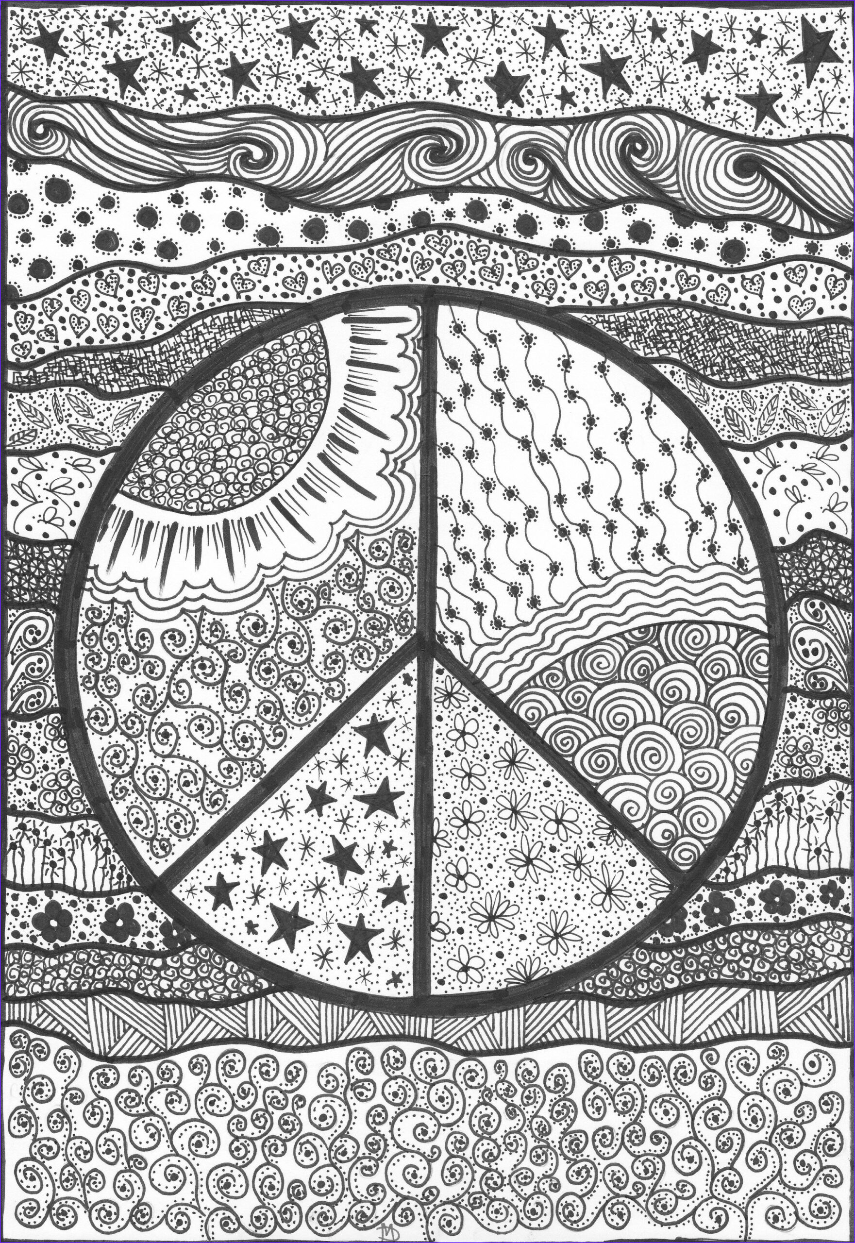 Trippy Coloring Book Beautiful Photography Peace An original Artwork by Cat Magness ☮ Color It