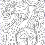 Trippy Coloring Book Unique Photos Trippy Space Alien Flying Saucer And Planets Coloring