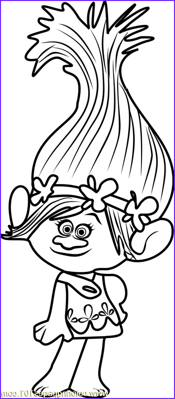 Trolls Coloring Book Awesome Photography Princess Poppy From Trolls Coloring Page