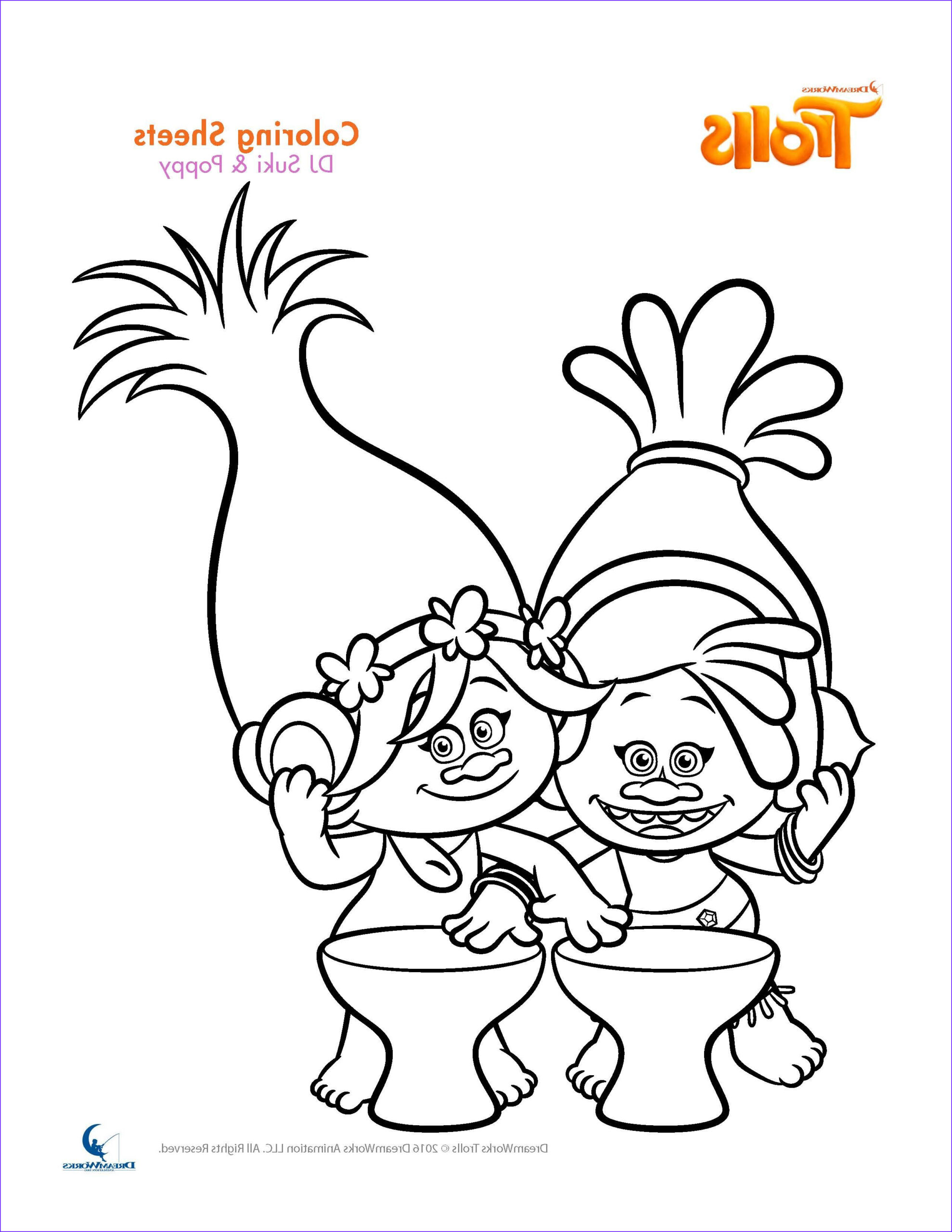 Trolls Coloring Book Luxury Stock Trolls Coloring Sheets and Printable Activity Sheets