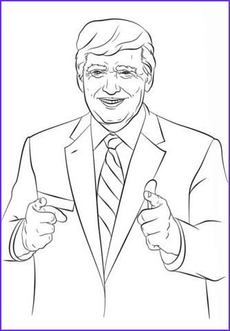 Trump Coloring Book Inspirational Gallery Donald Trump Coloring Page From Politics Category Select